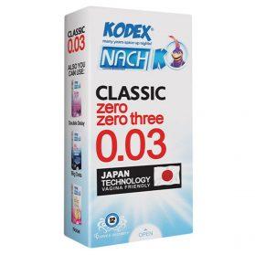 کاندوم ناچ کدکس کلاسیک فوق نازک مدل 0.03